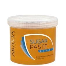 """Сахарная паста для депиляции """"Легкая"""" средней консистенции - Aravia Professional 750 гр"""