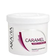 """Карамель для депиляции """"Ванильно-сливочная"""" плотной консистенции - Aravia Professional 750 гр"""