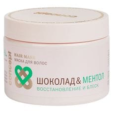 Маска для волос «Шоколад&Ментол» восстановление и блеск - Concept Repair&shine hair mask s.p.a. hair 350 мл