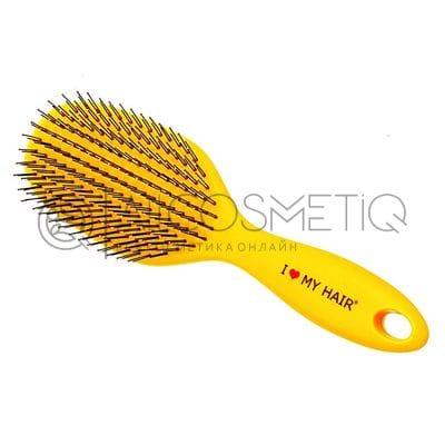 Щетка массажная - I Love My Hair SPIDER желтая глянцевая L