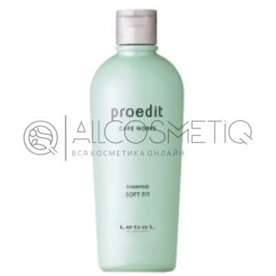 Шампунь для жестких и непослушных волос - Lebel Proedit Care Works Soft Fit Shampoo 300 мл