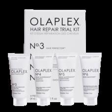 """Olaplex Набор """"Комплексный активный уход, защита и восстановление"""" (эликсир No.3 30 мл, шампунь No.4 30 мл, кондиционер No.5 30 мл, крем No.6 30 мл) Olaplex Trial Kit"""