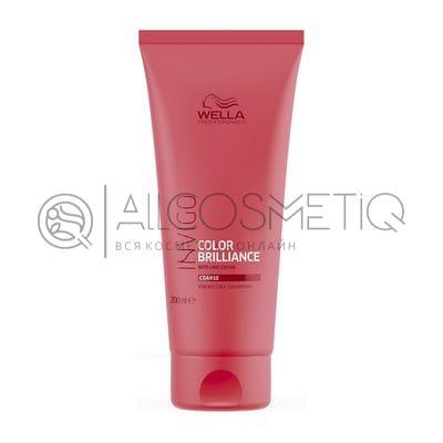 Бальзам-уход для защиты цвета окрашенных жестких волос - Wella Professional Invigo Color Brilliance 200 мл