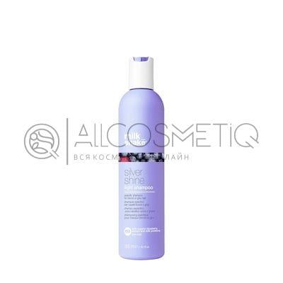 Пигментированный шампунь для тонких осветленных и седых волос - Milk Shake silver shine light 300 мл