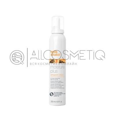 Увлажнящие кондиционирующие крем сливки для ухода за сухими и тонкими волосами - Milk Shake moisture plus whipped cream 200 мл