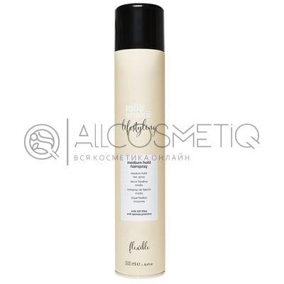 Лак для волос средней фиксации - Milk Shake lifestyling open hairspray medium hold 500 мл